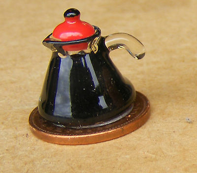 1:12 Full Pot Of Coffee Dolls House Miniature Kitchen Cafe Pub Drink Accessory