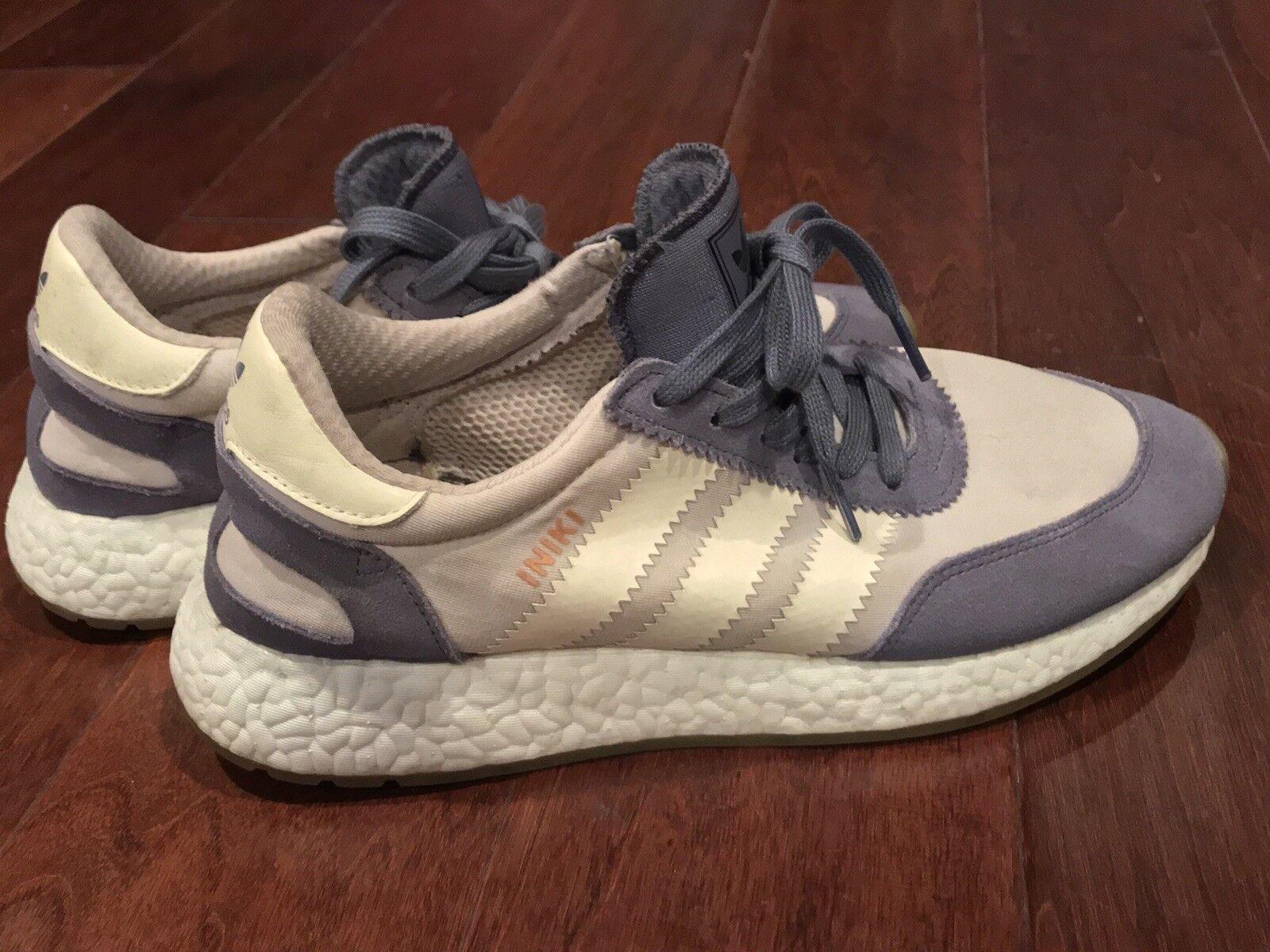 Adidas BA9995 Originals Womens Iniki  Purple Cream Athletic Running Shoe Sz 9