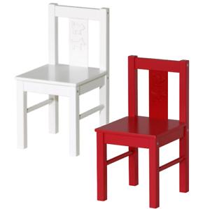Details Zu Ikea Kritter Kinderstuhl Sitzhöhe Stuhl Rot Weiß Kinder Massivholz Holzstuhl
