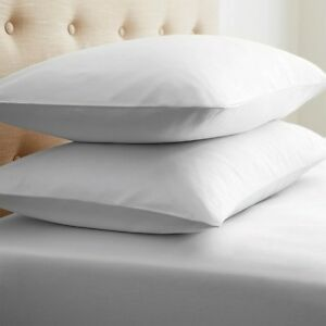 10 PILLOW CASES COVERS STANDARD 20X30 SUPER WHITE T-180 HOTEL-ENDEVOUR<wbr/>S SPA NEW