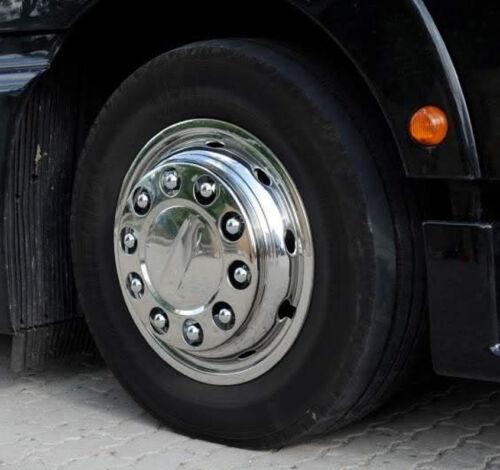 BULLONI RUOTA CALOTTE IN ACCIAIO INOX 33mm Camion Pneumatici Cerchi ALETTA Cappucci Tappi ornamentali