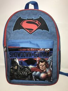 eb007400e731 Image is loading Batman-vs-Superman-Large-Backpack-Kids-School-Work-