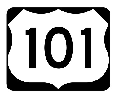 Bayshore Freeway US Route 101 Sticker Decal R997 Highway Sign Road Sign