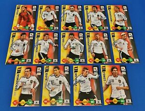 PANINI-Adrenalyn-XL-World-Cup-2010-ALLE-14-Base-Cards-Deutschland-Complete