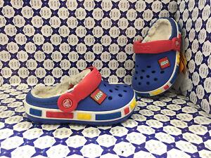 reputable site 760e3 36d94 Dettagli su Crocs Sabot Ciabatta Invernale Kids - Crocband Lego - Royal  Rosso - ROCLE