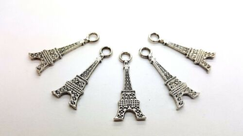 A0545-A 20 x 12x25mm Paris Eiffel Tower Tibetan Silver Alloy Charm Pendants