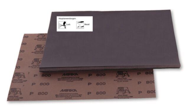 Mirka Wasserfeste Schleifmittel Schleifbögen WPF 230 x 280 mm Körnung wählbar