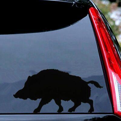 5.6in Creative Animal Hunting Shooting Wild Boar Car Sticker Laptop Window Decal
