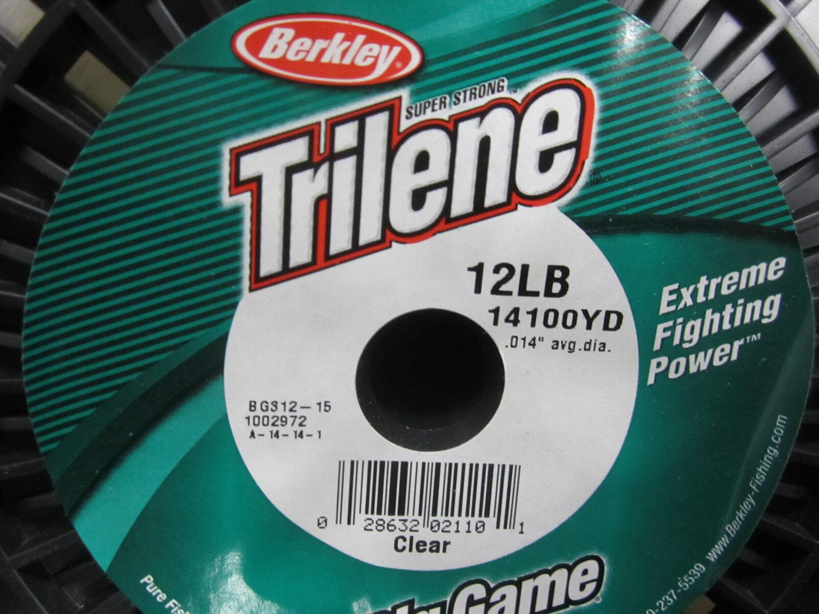 Berkley Trilene Big Game Ligne 12 LB (environ 5.44 kg) - 14100 Yds-Clair