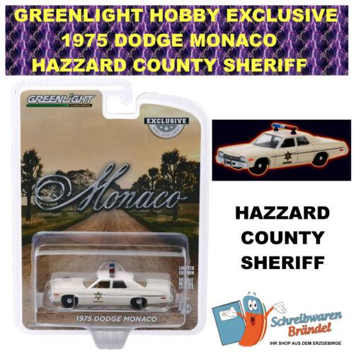 GreenLight 1975 Dodge Mónaco Hazzard County Sheriff Exclusive 1:64 Police #30140