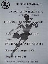 Programm 1999/00 SV Rotation Halle - FC Halle Neustadt