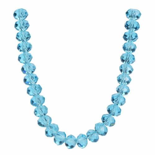 200pcs 4x3mm Rondelle Faceted Crystal Glass Loose Spacer Beads Jewelry Findings