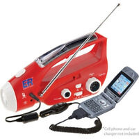 Solar Powered Hand Crank Am Fm Emergency Radio.phone Charge.survival Light.