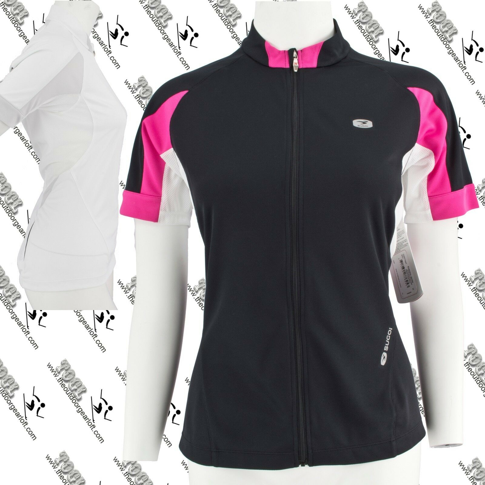 SUGOI GS57766F WOMENS CYCLING FULL ZIP SHORT SLEEVE EVOLUTION JERSEY MEDIUM