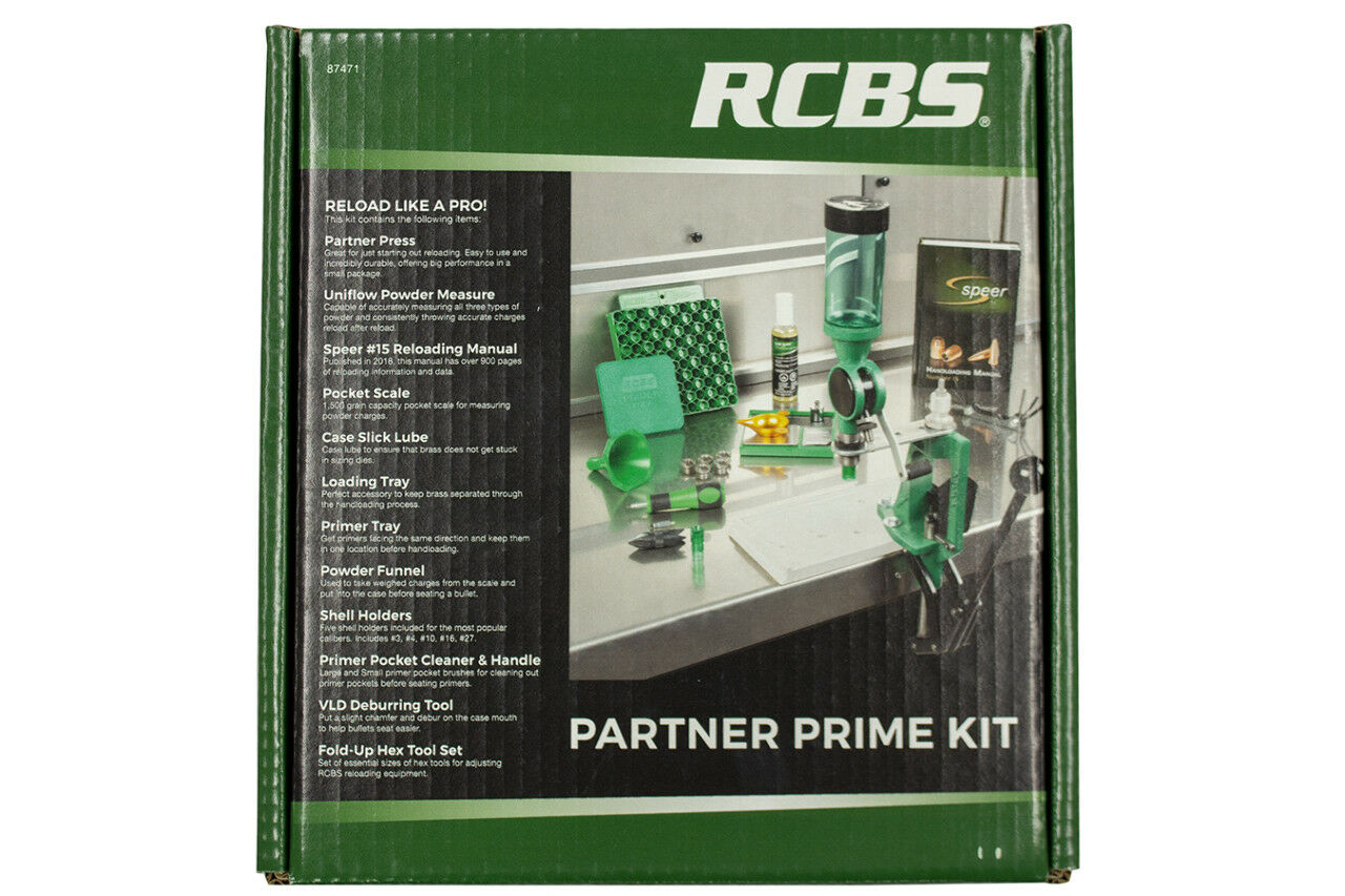 RCBS 87471 Partner Prime Single Stage Press Kit Reloading Multi Caliber Cast Alu