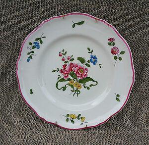 Ancienne assiette murale porcelaine de st amand d co - Assiette murale ...
