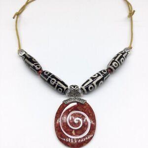 Details zu Tibetischer Schmuck, DZI, Halskette, Nepal, Sammlungsauflösung, Unikat