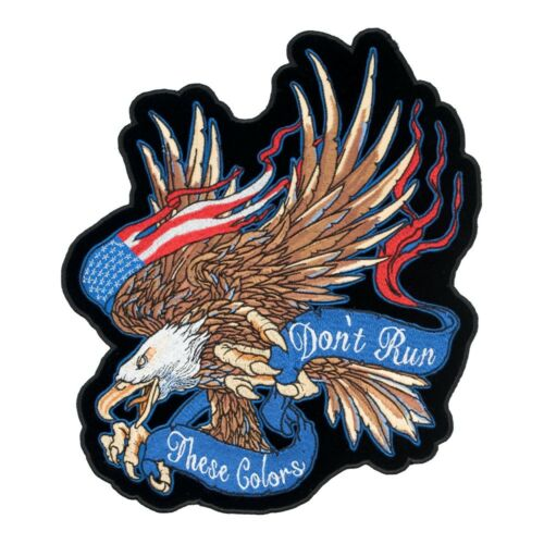 These Color/'s Don/'t Run Banner American Flag Eagle Patch Patriotic Back Patches