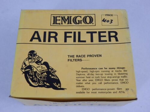 NOS EMGO Harley Davidson 1984 /& Later FXRDG FXRS FXST Emgo Air Filter 12-81500
