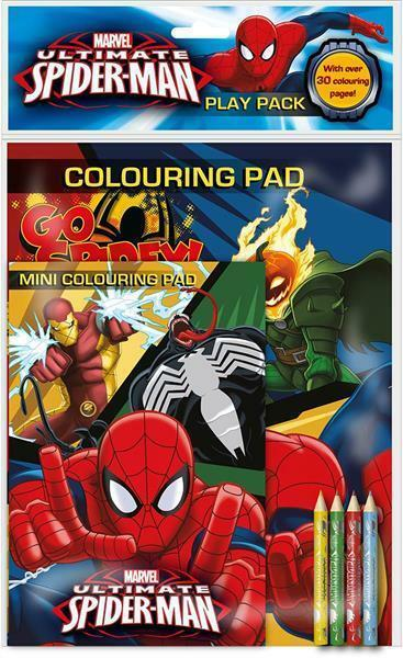 marvel ultimate spiderman play back activity coloring pad 4 pencil