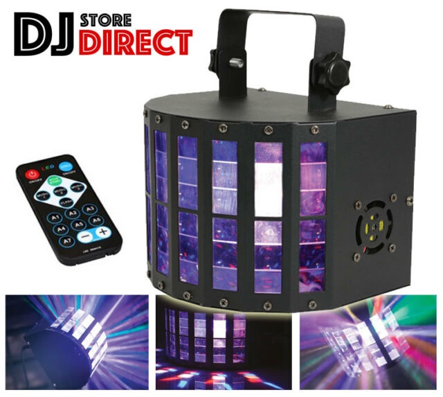 QTX DERBY9 LED Effect Wash Beam Strobe DJ Effects With Remote Control FREE P&P