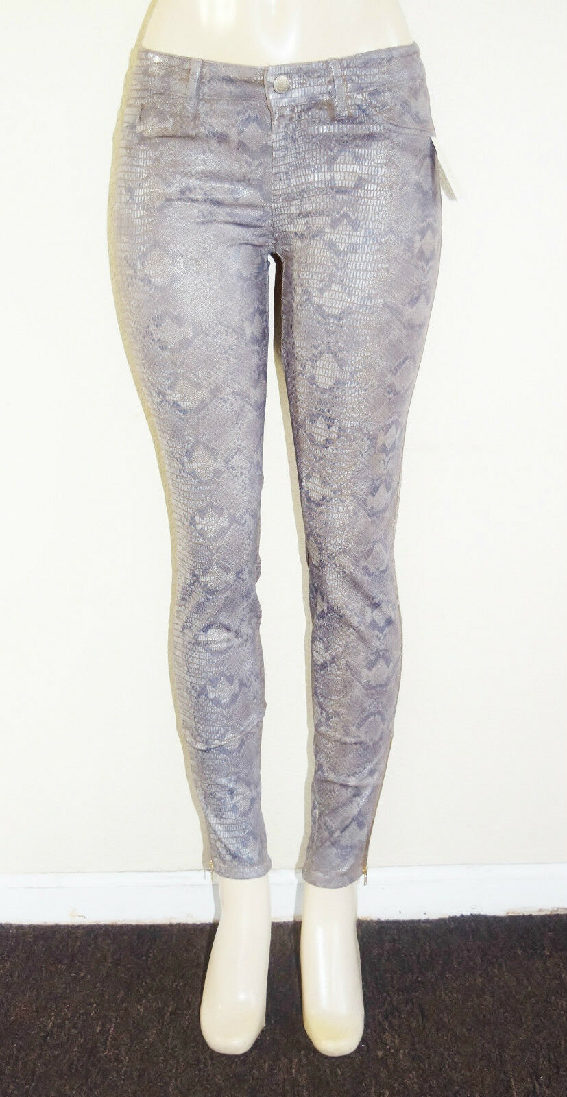 GUESS Women's Brittney Skinny Ankle Jeans with Snake Foil Print sz 24