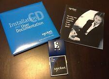 SOCKET 56K MODEM CARD 8510-00180J + Installation CD-Rom + Manual Reduced PRICE