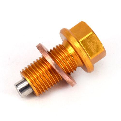 Motorcycle Magnetic Oil Drain Plug Bolts For Suzuki DRZ400S 400E 400SM RMZ250