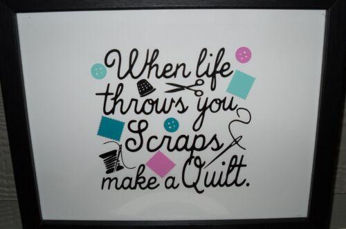 When life throws you scraps make a quilt Vinyl Decal Sticker crafts DIY block