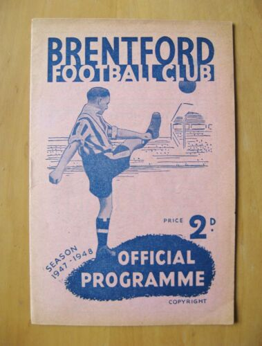 BRENTFORD v BIRMINGHAM CITY 19471948 Excellent Condition Football Programme