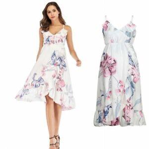 Floral Print Maternity Dresses Casual Summer Comfortable Sundress Pregnant Suit Ebay