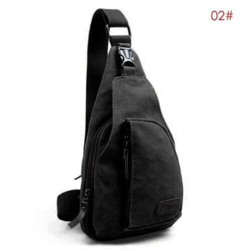 Men/'s Shoulder Bag Sling Chest Pack Outdoor Canvas Sports Crossbody Handbag US