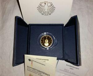 50 Euro Gold Münze Kontrabass D 2018 14 Unze Oz 9999 Au Brd