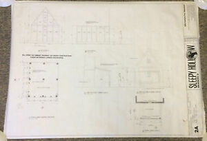 2014 Fox tv show SLEEPY HOLLOW set used BLUEPRINT~Season 2, Episode 15