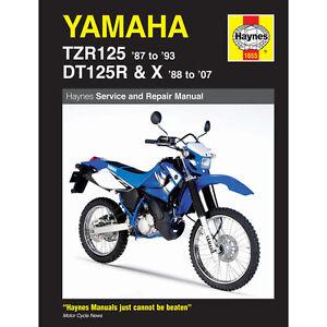 Yamaha-TZR125-Haynes-Manual-1987-1007-DT125R-DT125X-124cc-Workshop-Manual