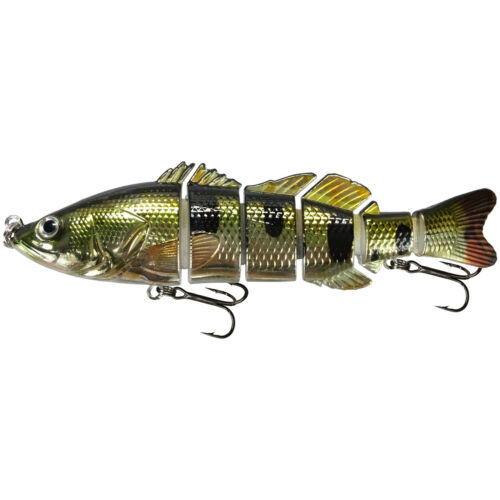 """Holo Bass KDS Custom Slow Sinking Jointed 6/"""" Multi Section Swimbait"""