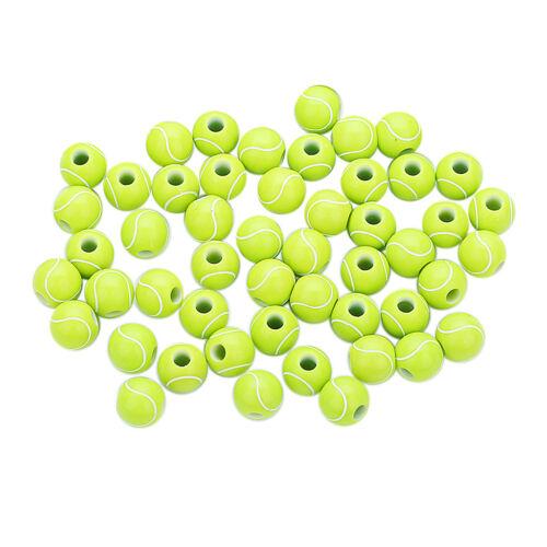 50pcs Tennis runde Acryl großes Loch Distanzscheiben Korn Charme