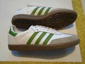 New-Adidas-Originals-Samba-OG-Olive-Green-Men-039-s-Leather-Soccer-Shoes-EE7055