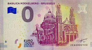 BILLET-0-EURO-BASILICA-KOEKELBERG-BRUSSELS-BELGIQUE-2018-NUMERO-100