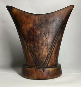 FINE-Old-African-Artifact-Wood-Hand-Carved-Head-Rest-Tribal-Art-Wooden