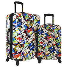 Loudmouth 2pc Crak! / Party Mix Printed Hardside Expandable Spinner Luggage Set