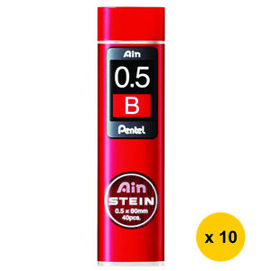 Back-to-School Pentel C275-B Ain Stein 0.5mm Refill Leads (10tubes) [LOW PRICE]