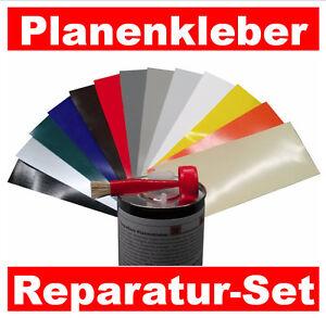 pvc planenkleber pu reparatur set flicken f r lkw pkw. Black Bedroom Furniture Sets. Home Design Ideas