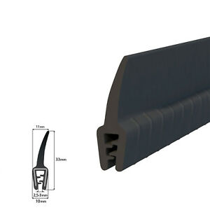 Kantenschutzprofil-Fassungsprofil-Gummiprofil-Kantenschutz-UKT-45-Autoprofil-NEU