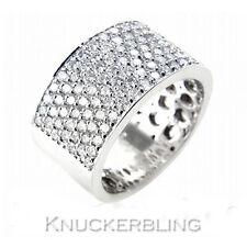 Allanar conjunto anillo de boda de diamante 1.60ct F vs 18ct Oro Blanco Mans 10mm banda ancha