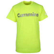 Cummins dodge diesel t shirt top safety green short sleeve reflective LARGE