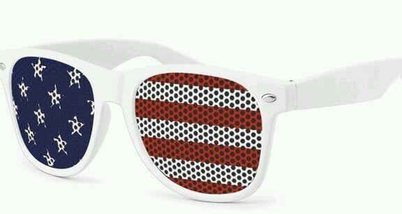 American Flag Sunglasses - Dark Lense with Full Color Imprint - USA - Patriotic