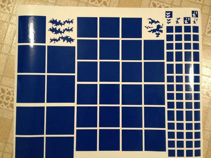 Digital Camo Vinyl Airbrush Stencil Paint Kit HUGE 24x26 Camouflage Duracoat