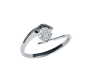 Brillant-Ring-weisse-Diamanten-14-Karat-585-Weissgold-Neu-Zertifikat-Schmuckbox