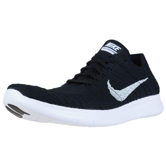 7093db559ff12 Nike RN Flyknit Mens Size 13 Running Shoe Black White 831069 001 for ...